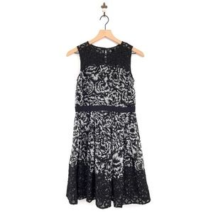 Ann Taylor Floral Fit & Flare A-Line Dress Size 4P